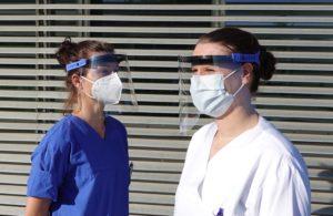 Mehrweg Faceshield Schutzschild Gesichtsschutz Schutzmaske