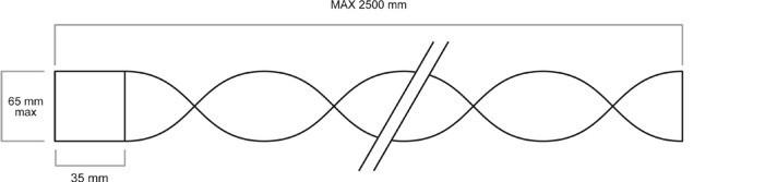 Turbulator mit Halterung Skizze