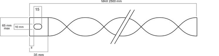 Turbulator mit Halterung und Langloch